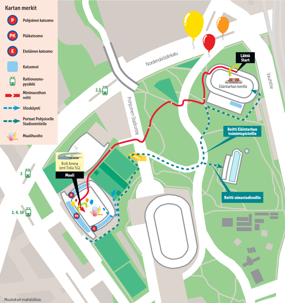 Minimarathon route map
