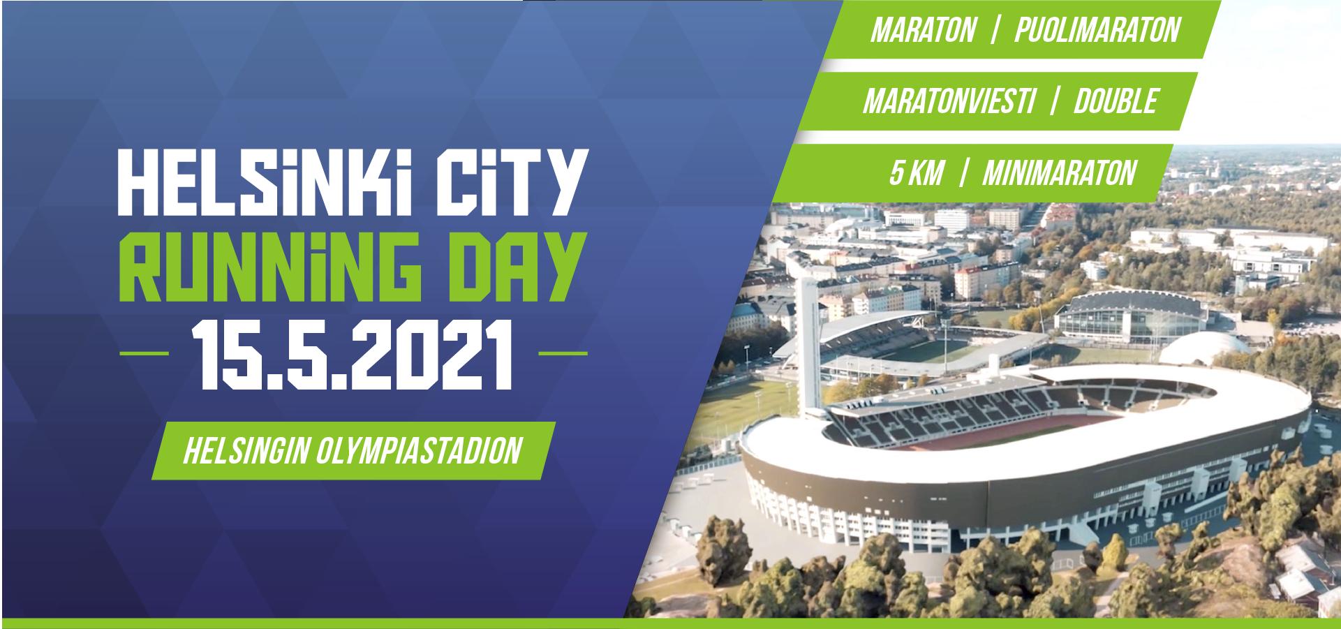 Helsinki City Running Day juoksutapahtuma 2021
